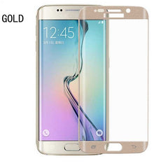Tempered Glass screenprotector voor Samsung S6 / S7 Edge (zwart, wit en goud)
