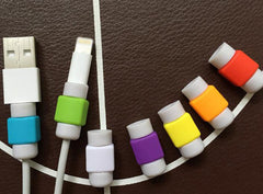 Super zachte siliconen kabel Protector voor Apple iPhone 4s 5 5s 6 6s 7 Plus