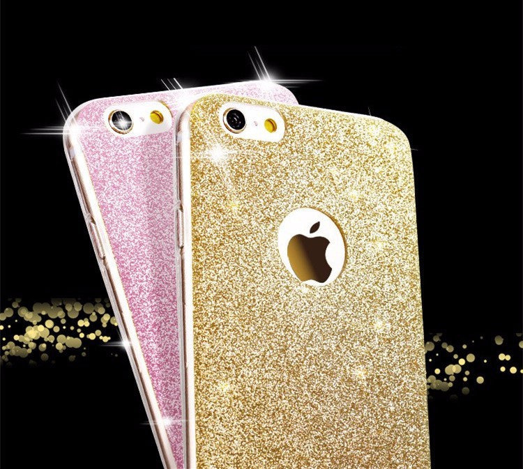 Diamond flash Glitter Zachte siliconen case voor de iPhone 6S 6 Plus 5 5S