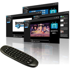 Air mouse met Qwerty toetsenbord / Draadloos / Fly mouse/ 2 kanten voor oa Android Tv Box