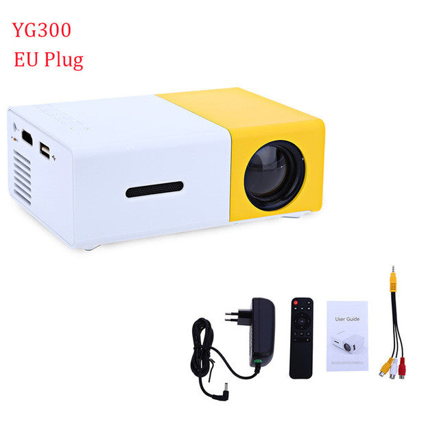 LED Portable Projector-400-600LM -3.5mm Audio-320 x 240 Pixels-Home Media Player