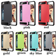"Cover voor Apple iPhone 5/ 5S/ SE/ 6/ 6S/ 7 4.7 & 7 Plus 5.5"" + Opslag voor bankpas"