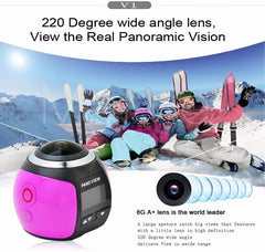 4K 360 Graden Action Video Camera Wifi 16MP Ultra HD Panorama Camera 3D Waterproof Sport Driving VR Camera