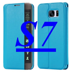 S7/ S7 Edge Luxe Case Smart Touch Window View Flip Stand voor Galaxy S7 /S7 Edge