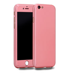 Cover voor iPhone 6 6S Plus 7 7 Plus + Tempered Glass (Diverse kleuren)