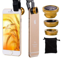 Universele 3 in 1 lens clip voor smartphone (Iphone, Samsung, HTC)