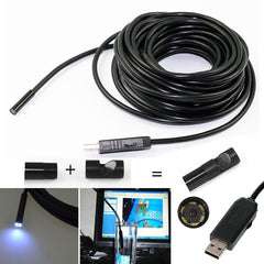 7 mm usb inspectie lens endoscoop (2 meter, Computer, Laptop)