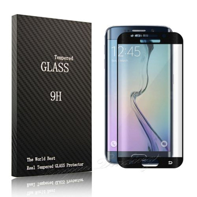 Tempered Glass screenprotector (Full screen) voor Samsung S6 Edge PLUS (diverse kleuren)
