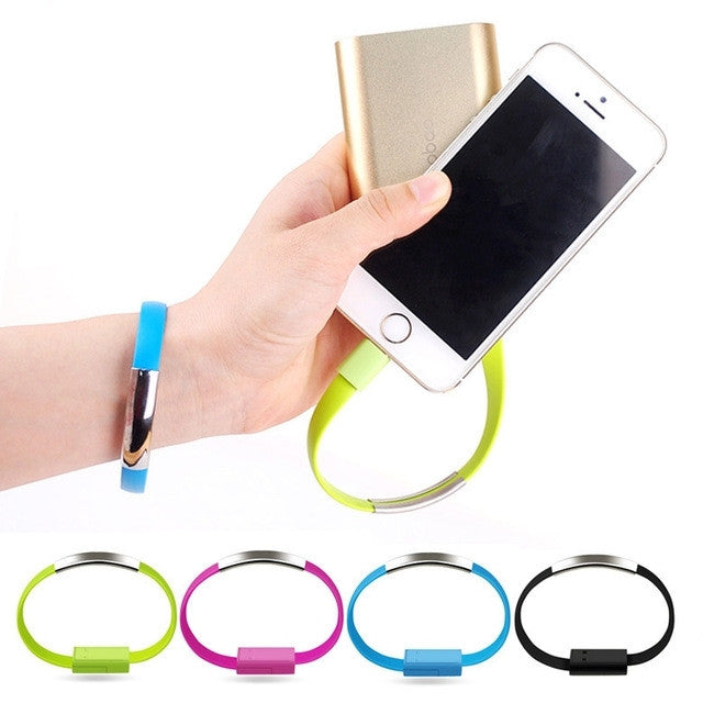 micro usb kabel armband voor android en iphone. Black Bedroom Furniture Sets. Home Design Ideas