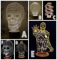 3D illusie lamp