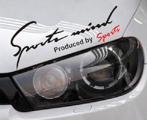 Sports mind auto sticker