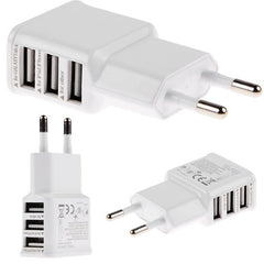 USB power adaptor voor Iphone, Samsung (3 poorten)