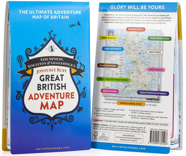 JOYOUSLY BUSY GREAT BRITISH ADVENTURE MAP
