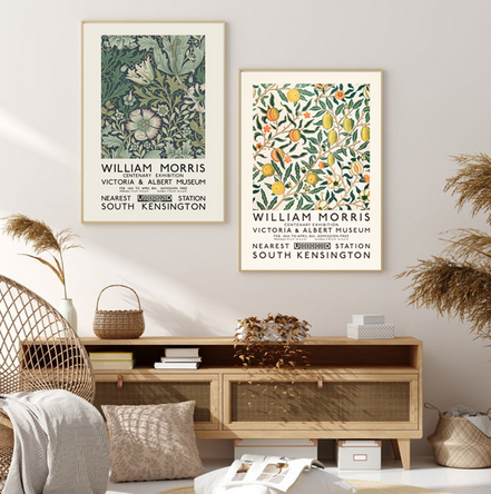 William Morris Green Leaf Print