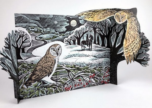 Angela Harding Owl in Winter Advent Calendar