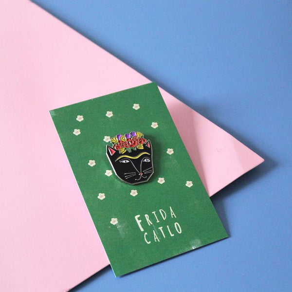 Frida Kahlo Cat Pin