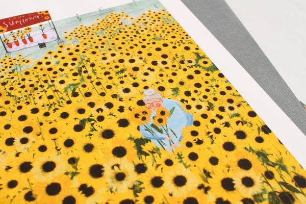 Yellow Sunflowers A4 Art Print