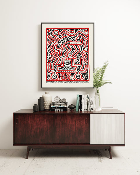 Keith Haring Exhibition Poster