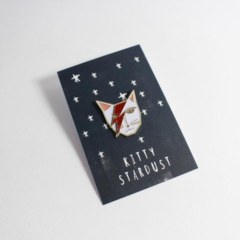 David Bowie Cat Pin