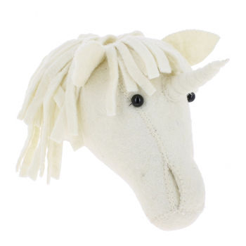 Felt Unicorn Head Decoration