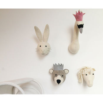 Felt Rabbit Head Decoration