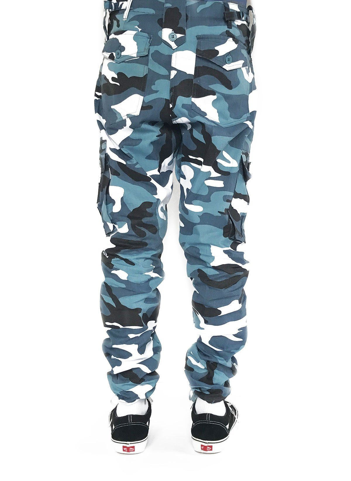 cargo trousers in Blue camo - DXPE CHEF 571d052b0ef