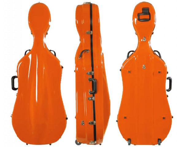 Fiberglass Suspension Cello Case With Wheels