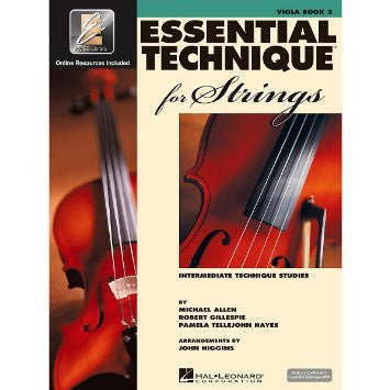 Essential Technique for Strings (Essential Elements Book 3) Viola