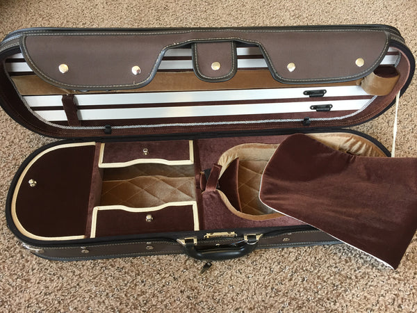 Tourte Wood Shell Violin Case
