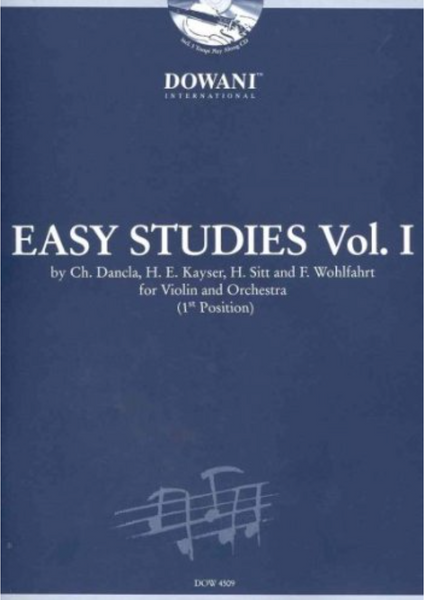 Easy Studies, Volume 1 (First Position) for Violin and Orchestra