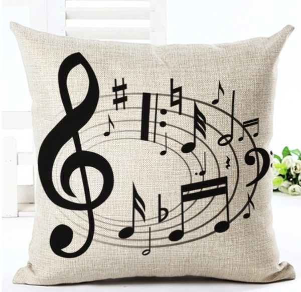 Violin Throw Pillow Case