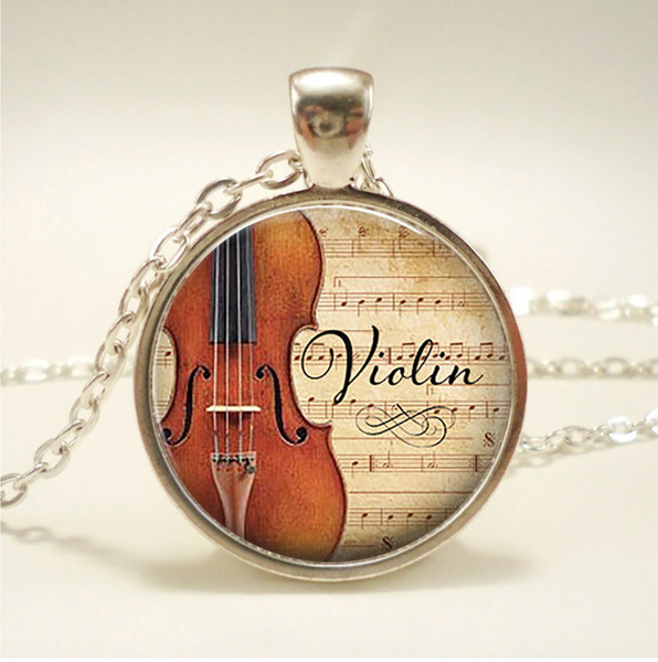 Violin Necklace Pendant