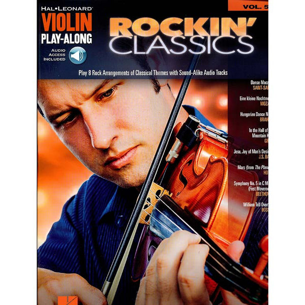 Rockin' Classics- Violin Play-Along Songbook
