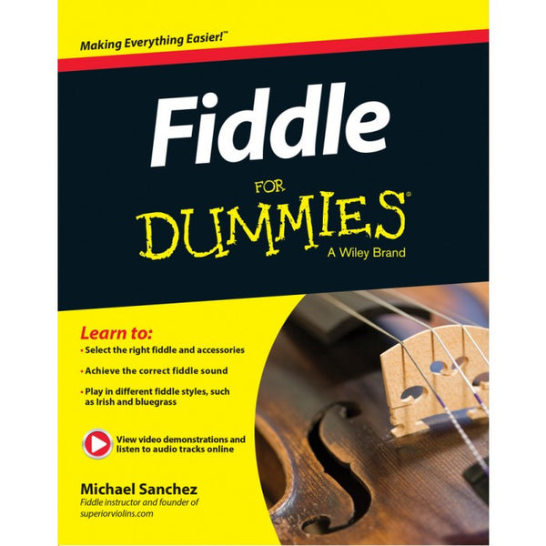 Autographed Fiddle for Dummies Book by Michael Sanchez