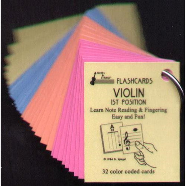 Music Note Violin, Viola, Cello Flash Cards