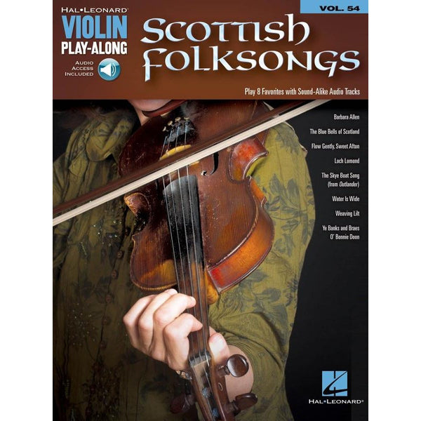 Scottish Folksongs- Violin Play-Along Songbook