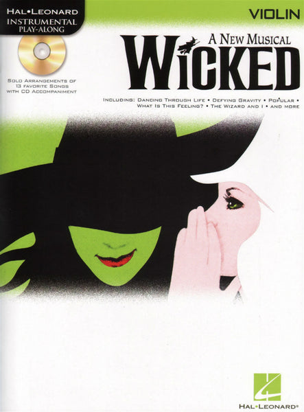 Wicked-Violin Play-Along Songbook + CD