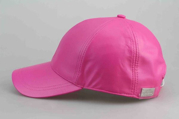 Barbie Pink Luxe Leather Cap - Adults
