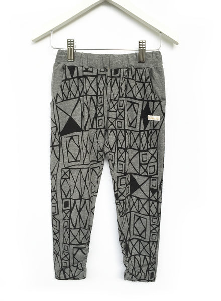 Geo Grey Slouch Pants