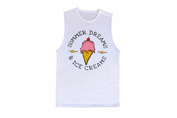 Ice Cream Dreams Muscle Tee Adults