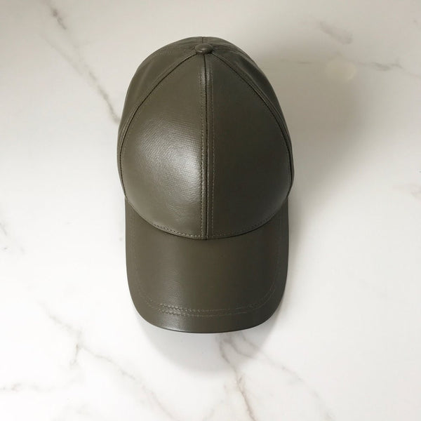KLASSIQUE KHAKI Adults Leather Cap - Pre Order
