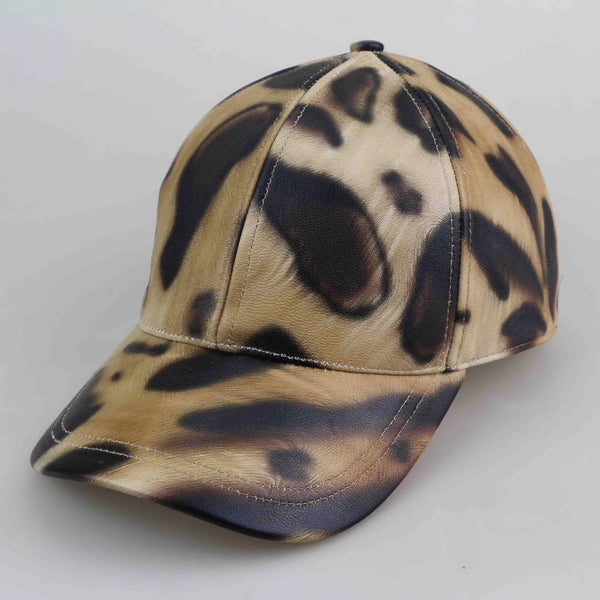 Leopard Luxe Leather Cap - Child