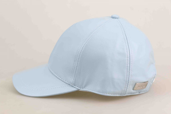 Baby Blue Luxe Leather Child Cap