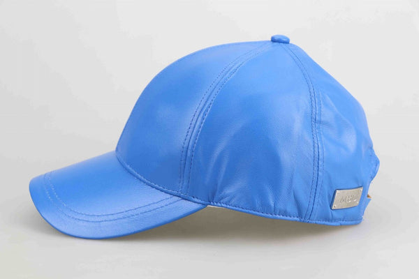 Electric Blue Luxe Leather Child Cap