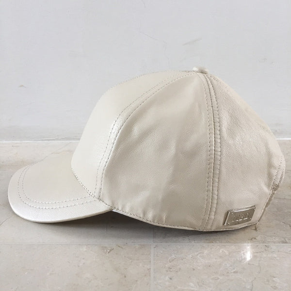 Cream Luxe Leather Bub Cap
