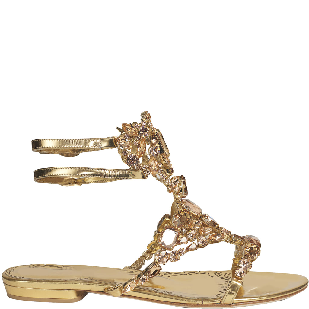 8124fa974e6849 Marchesa Emily Gold Swarovski Crystal Jewelled Sandal – Marchesa ...