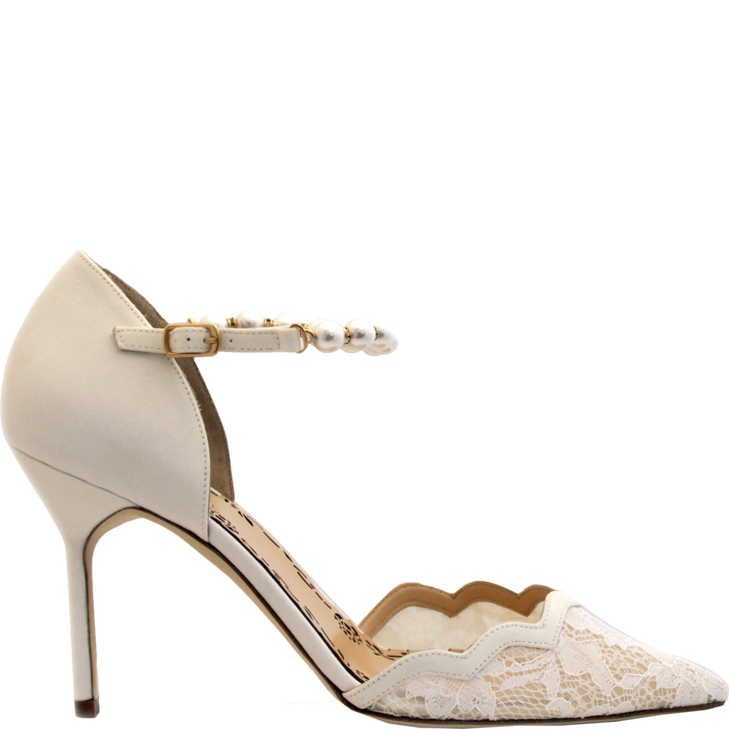 Marchesa Emma lace pumps