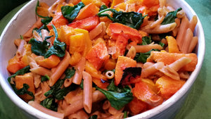 Thanksgiving Autumn Pasta Salad by chef Robyn Michele