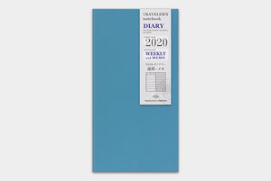 Traveler's Notebook Refill 2020 Weekly + Memo - Regular Size