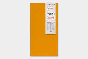 Traveler's Notebook Refill 2020 Vertical - Regular Size